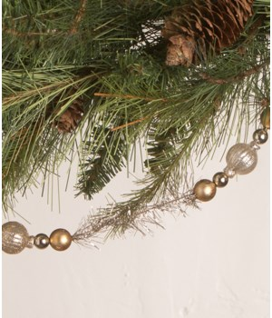 Silver and Gold Bead Garland