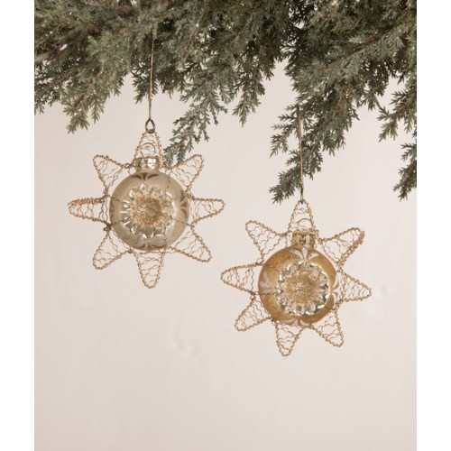 Peaceful Star Glass Ornament 2A