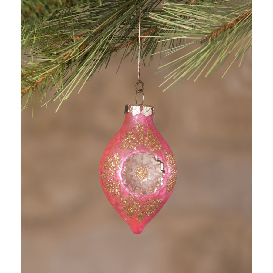 Jewel-Tide Onion Indent Ornament 8A