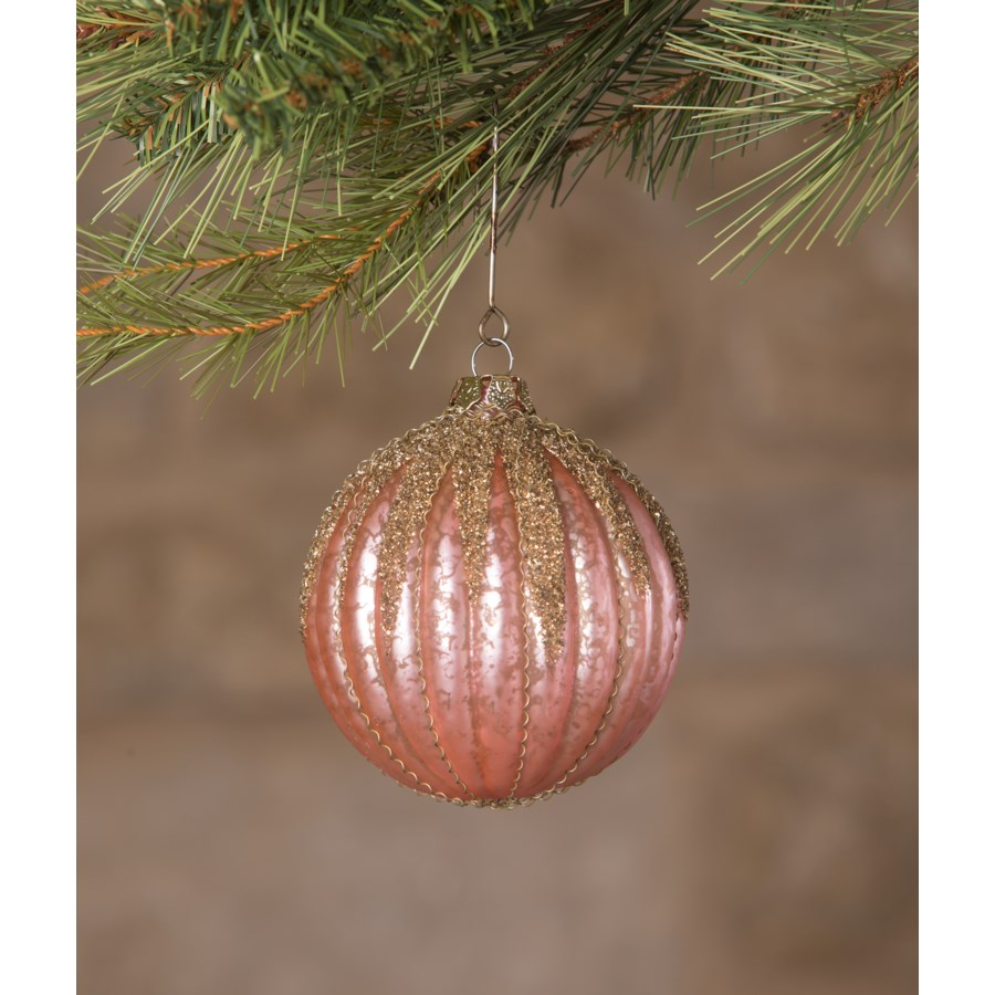 Jewel-Tide Glass Glitter Drip Ball Ornament 8A