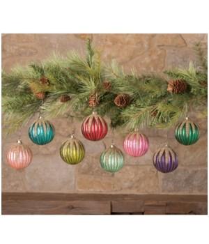 Jewel-Tide Glass Glitter Drip Ball Ornament 8/A