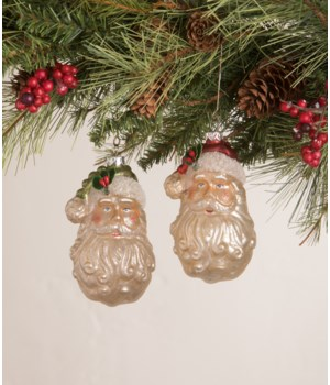 Vintage Santa Head Ornament 2A