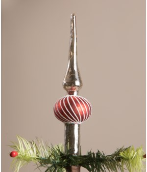Red Finial Tree Topper Small