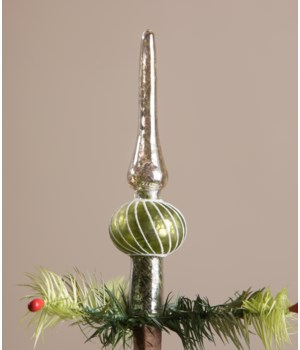 Green Finial Tree Topper Small