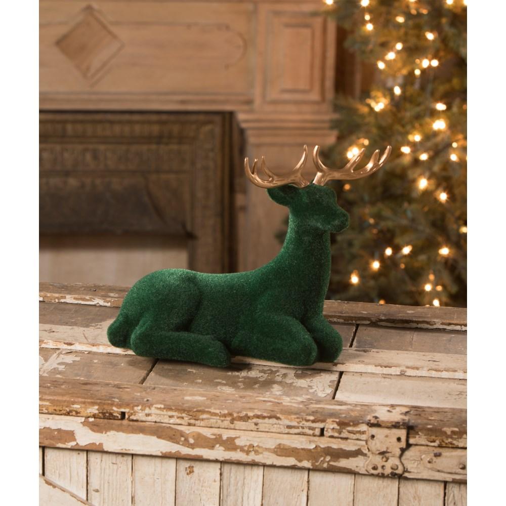 Large Emerald Flocked Deer