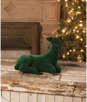 Large Emerald Flocked Deer