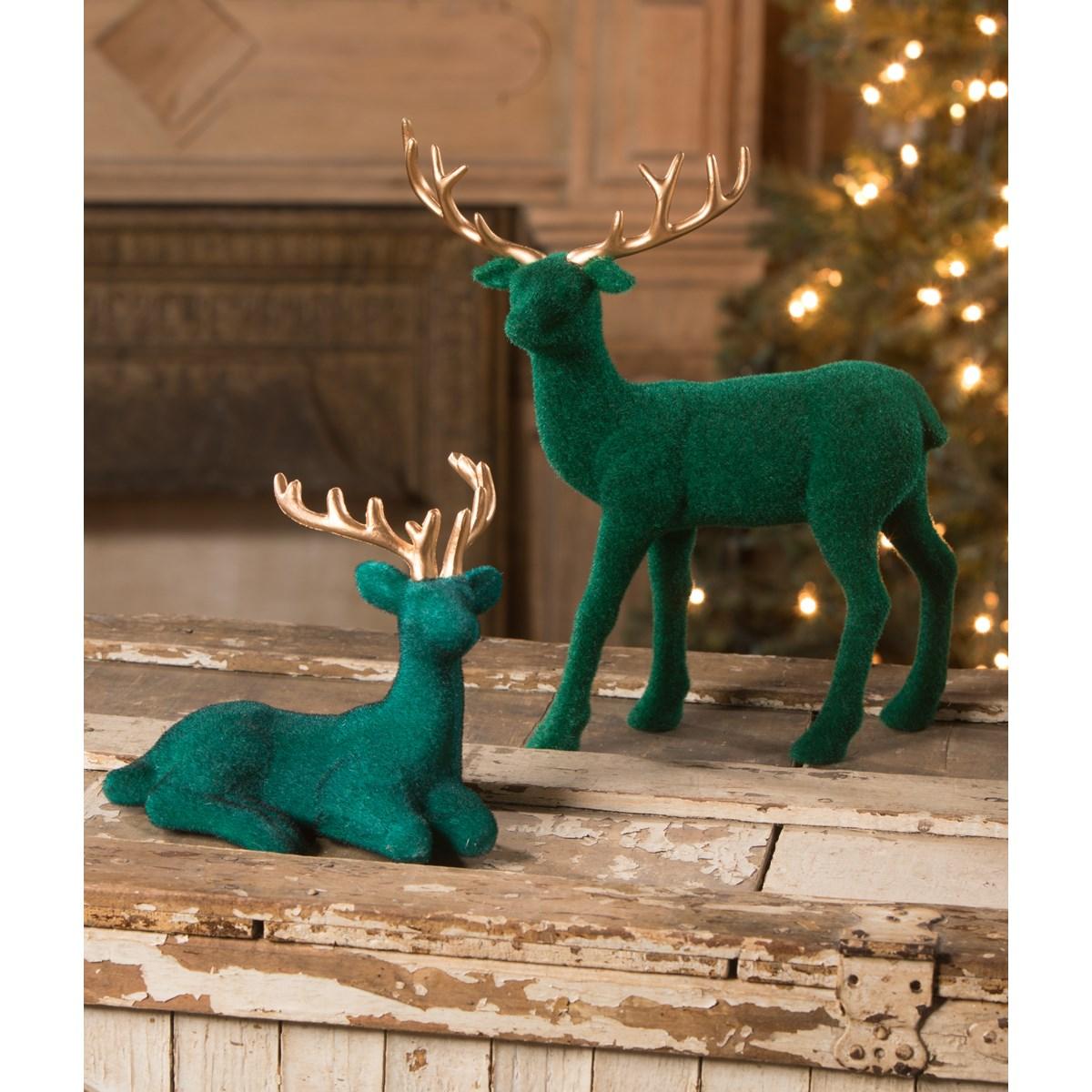 Jewel-Tide Flocked Deer S2