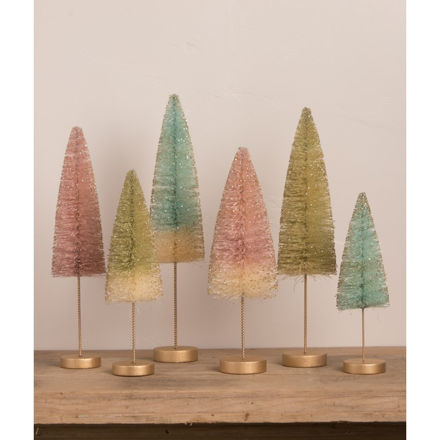 Pastel Forest Bottle Brush Trees S6
