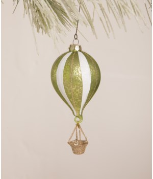 Citrene Striped Hot Air Balloon Ornament