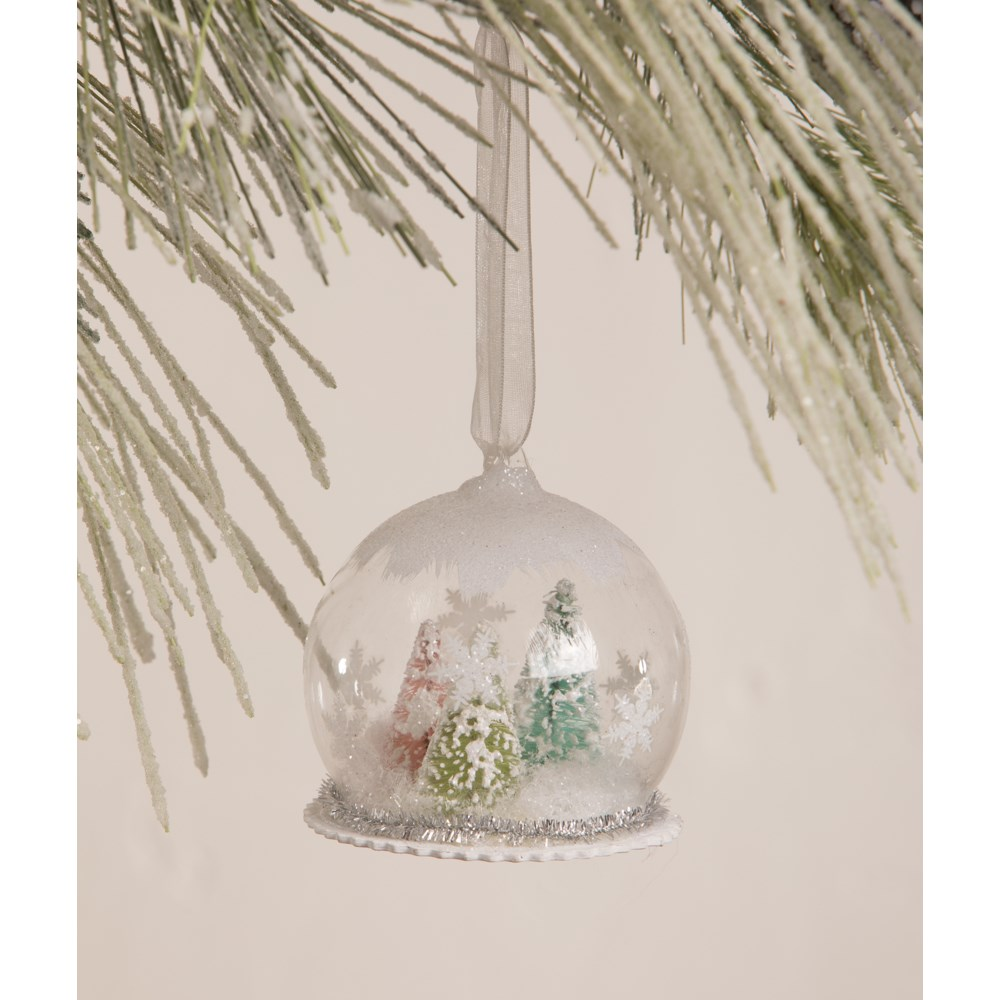 Pastel Forest in Globe Ornament