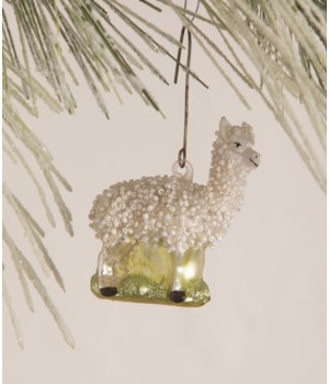 Glass Beaded Llama Ornament