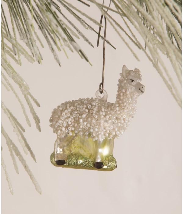 Glass Beaded Llama Ornament