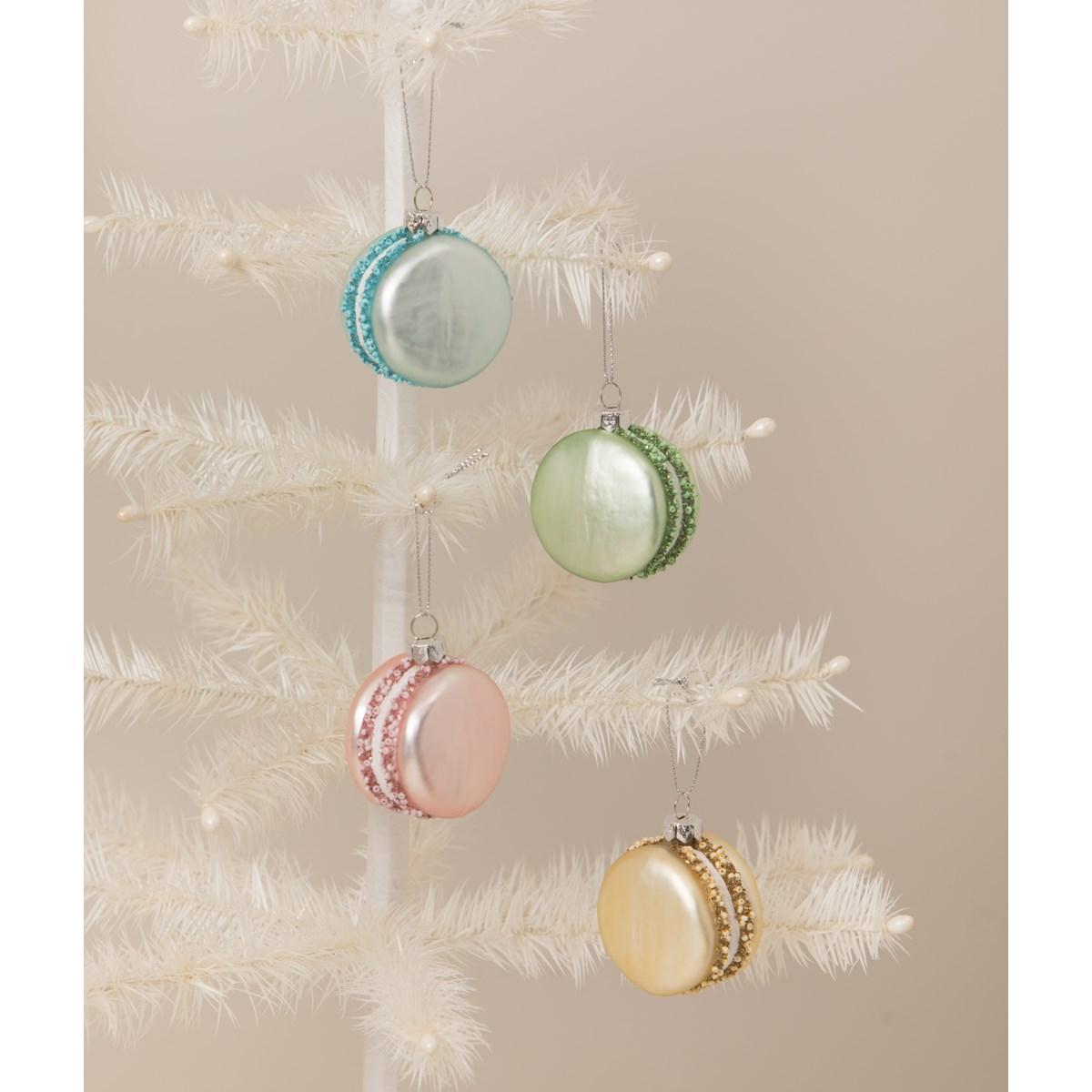 Pastel Glass Macaron Ornaments S4
