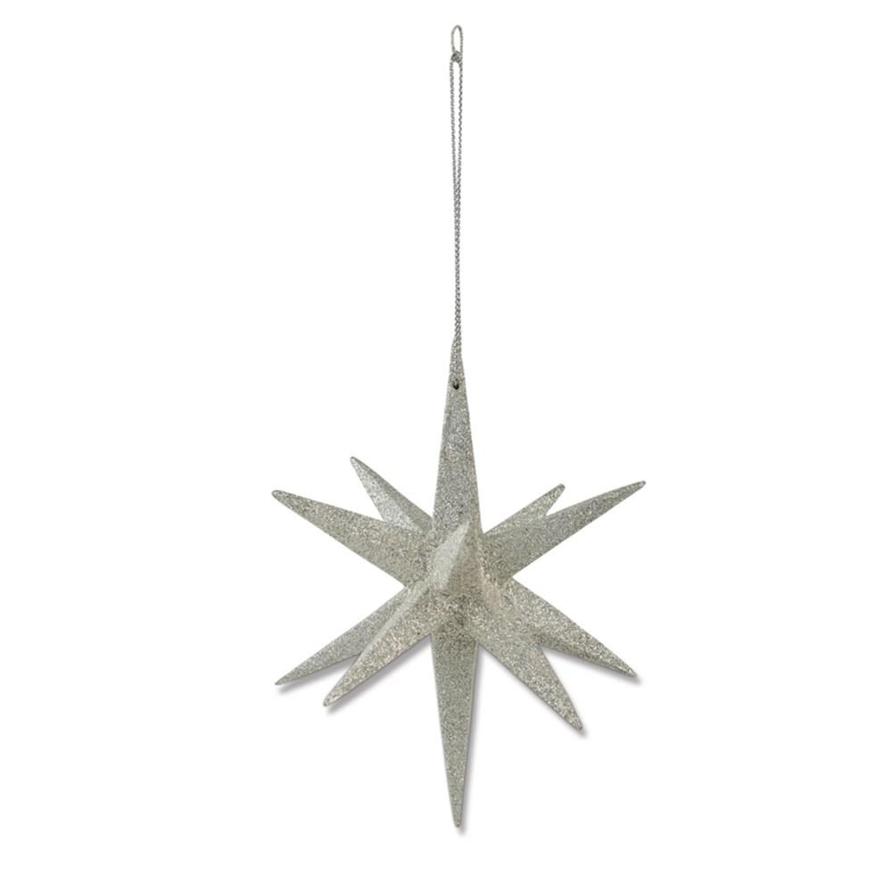 Platinum Moravian Star Ornament