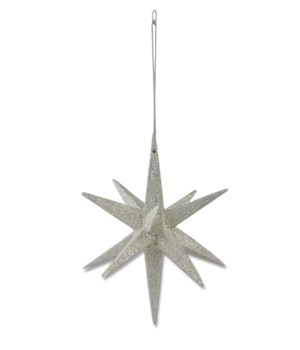 Platinum Moravian Star Ornament
