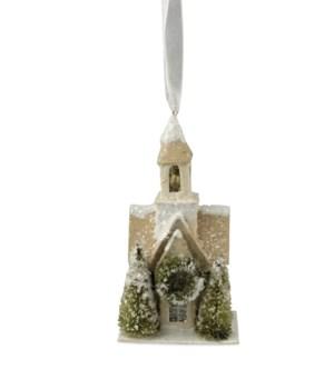 Woodland Church Ornament