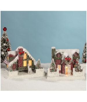 Vintage Putz Christmas House Medium 2/A