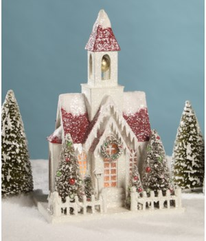 Vintage Putz Christmas Church Large