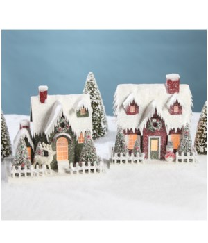 Vintage Putz Christmas House Large 2A