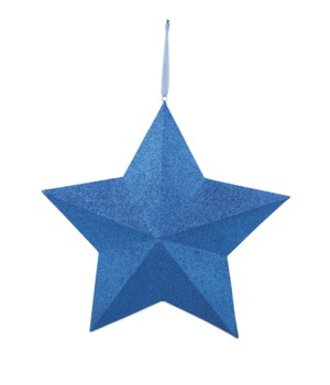 BLUE GLITTERED STAR EXTRA LARGE