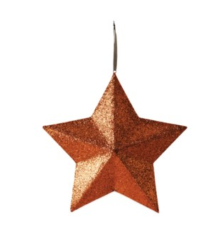 Orange Glittered Star Extra Large