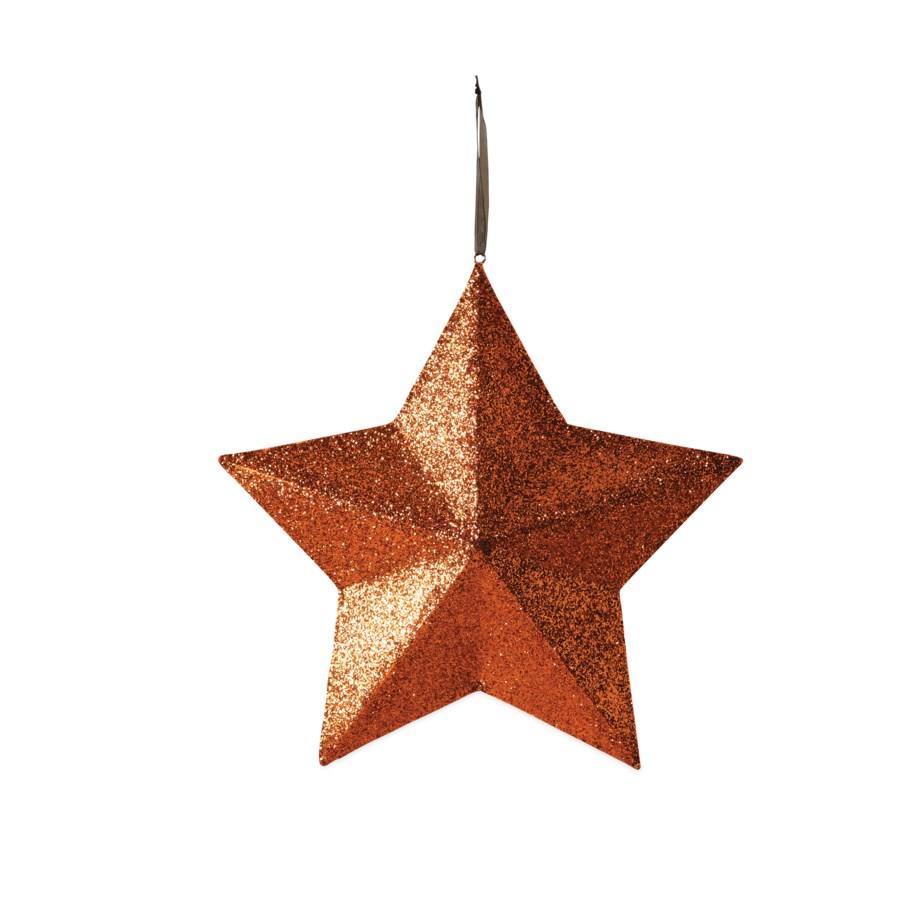 Orange Glittered Star Extra Large