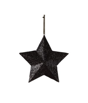 Black Glittered Star Large
