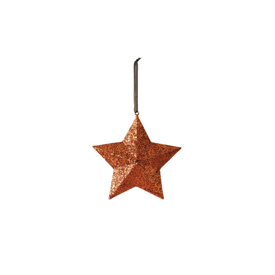 Orange Glittered Star Medium