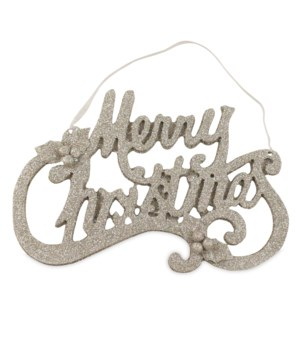 Platinum Merry Christmas Word Ornament