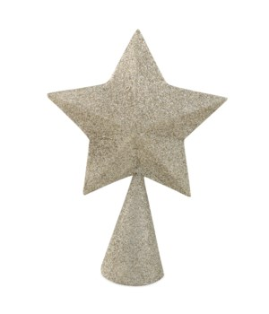 Platinum Glittered Star Tree Topper