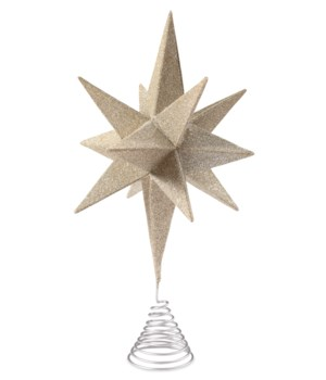 Moravian Star Tree Topper Silver