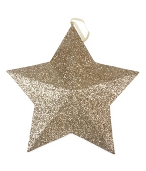 Gold Glitter Star Ornament Extra Large