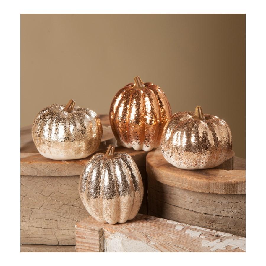 Elegant Glitter Pumpkin 4A