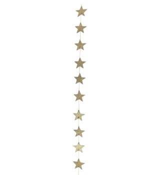Old Gold Star Garland Small 7'