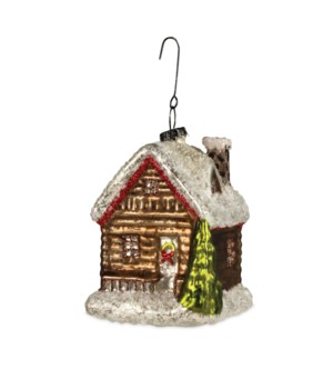 Traditional Log Cabin Ornament