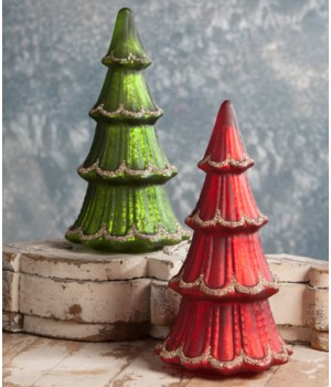 Traditional Mercury Glass Tree 2/A