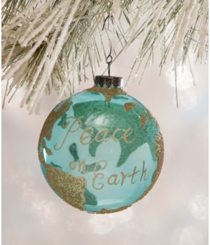 Peace on Earth Globe Ornament