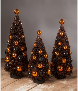 Magic Halloween Glitter Bottle Brush Tree Large S3