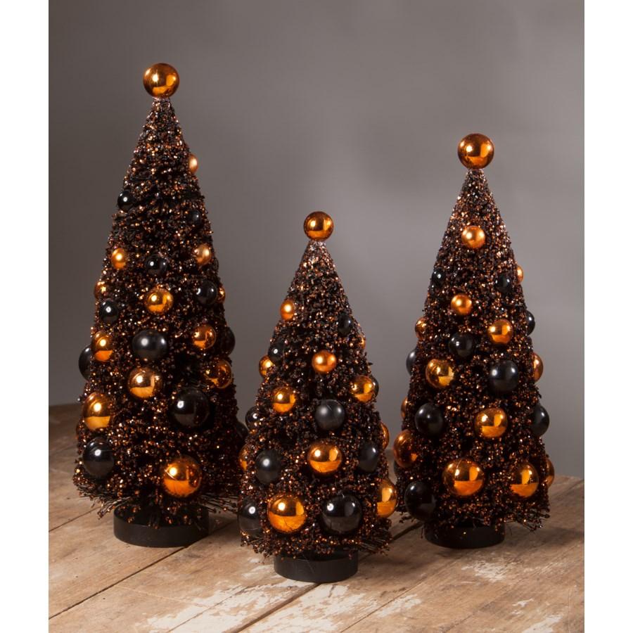 Magic Halloween Glitter Bottle Brush Tree Large S3