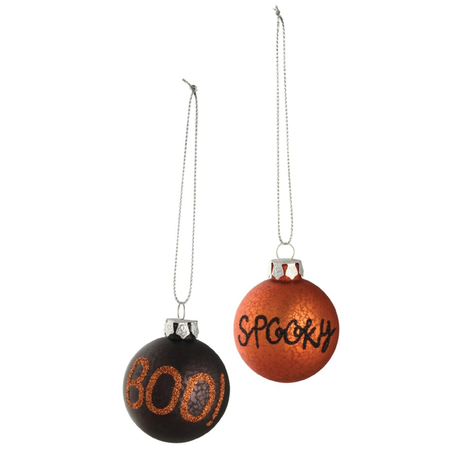 Halloween Word Ball Ornament 2/A