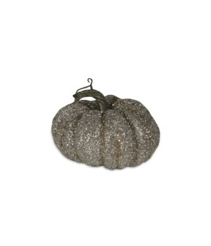 Glass Glittered Pumpkin Small