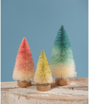 Mini Pastel Ombre Trees S/3