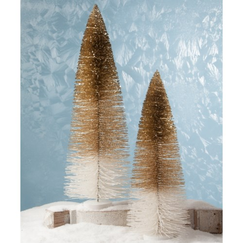 Peaceful Glitter Trees Extra Large S/2