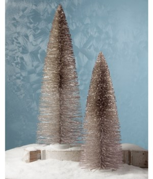 Platinum Glitter Trees Extra Large S/2