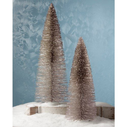 Platinum Glitter Trees Extra Large S2