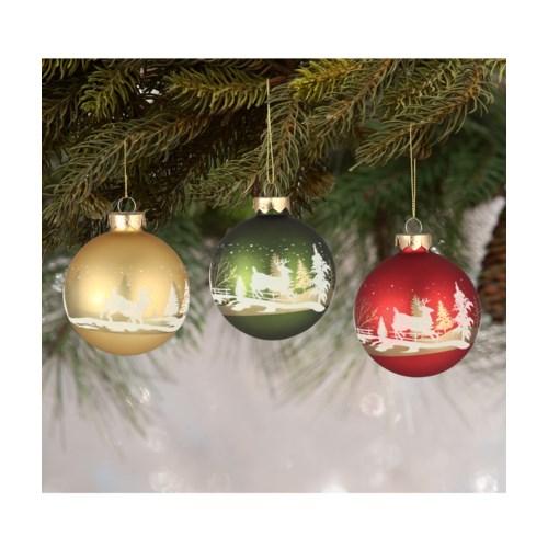 Traditional Silhouette Scene Ornament 3/A