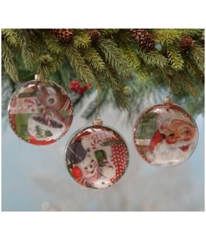 Merry & Bright Disc Ornament 3/A
