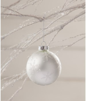 Winter Snowflake Silhouette Ornament