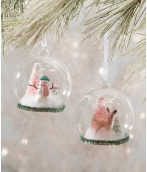 Flea Market Globe Ornament 2/A