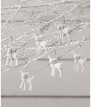 Winter Fawn Mini Ornament S/6